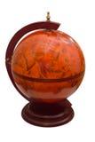 Antique globe isolated on white background Stock Images