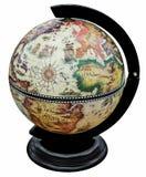 Antique globe isolated on white stock image
