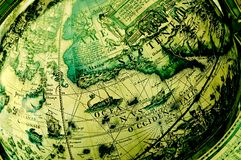 Antique globe - North America Royalty Free Stock Images