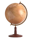 Antique Globe Over White Royalty Free Stock Images