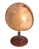 Antique Globe Over White Stock Images