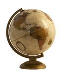 Antique globe on white Stock Images