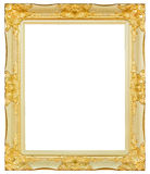Antique gold and black frame isolated decorative carved wood stand, Royalty Free Stock Photos