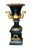 Antique Gold and Blue Vase Royalty Free Stock Images