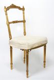 Antique Gold Chair stock image