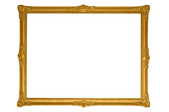 Antique gold frame. Isolated antique gold frame, put your picture in it Royalty Free Stock Photo