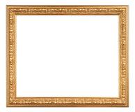Antique gold frame Stock Images
