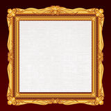 Antique Gold Frame with Blank Canvas. Vector Royalty Free Stock Images
