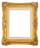 Antique gold frame isolated on white background Stock Photography