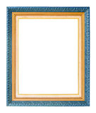 Antique gold frame isolated on white background Royalty Free Stock Photo