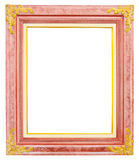 Antique gold frame isolated on white background Royalty Free Stock Image