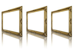 Antique gold frame. Royalty Free Stock Photography