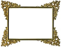Antique gold frame w/complete work path Stock Image