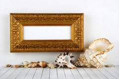 Antique gold frame Royalty Free Stock Photography