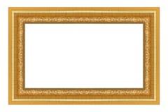 Antique gold frame on white Stock Photo
