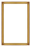 Antique gold frame on the white background Stock Photography