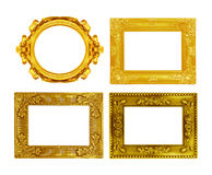 The antique gold frame on the white Royalty Free Stock Photography