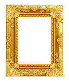 The antique gold frame on the white Royalty Free Stock Photos