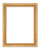 The antique gold frame on the white background Royalty Free Stock Photo