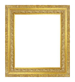 The antique gold frame on the white background Stock Images