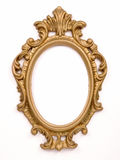 Antique Gold Frame. On white background Royalty Free Stock Photo