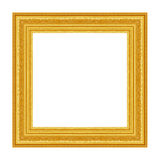 The antique gold frame on the white Royalty Free Stock Images