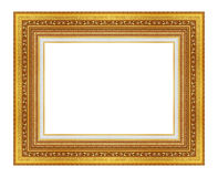 The antique gold frame on the white Stock Photos