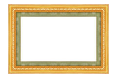 The antique gold frame on the white Stock Photography
