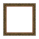The antique gold frame on white Royalty Free Stock Photography