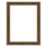 The antique gold frame on white Stock Image