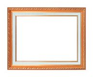 The antique gold frame on the white background. The antique gold frame on the white on background Royalty Free Stock Photos