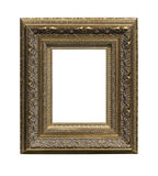 The antique gold frame Stock Photo