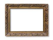 The antique gold frame Stock Photos