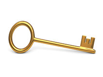Antique gold key Stock Image