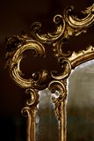Antique gold mirror stock photo