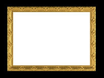 Antique Gold Ornamented Picture Frame Isolated Royalty Free Stock Photos