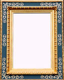 Antique gold picture frame. An elegant, antique gold picture frame Royalty Free Stock Photo
