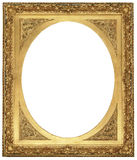 Antique Gold Picture Frame. There is a antique gold picture frame Royalty Free Stock Image