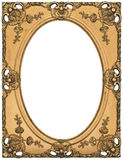 Antique Gold Picture Frame. There is a antique gold picture frame Royalty Free Stock Photos