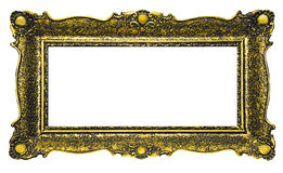 Antique Gold Picture Frame - Rectangle Stock Images