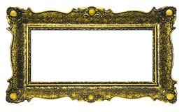 Antique Gold Picture Frame - Rectangle. Antique Gold Picture Frame - rectangular shape stock images