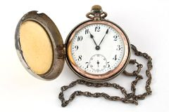 Antique gold pocket watch Royalty Free Stock Photos