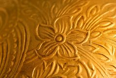 Antique golden background Stock Photo