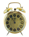 Antique golden clock Stock Photography