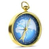 Antique golden compass Royalty Free Stock Photos