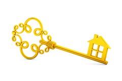 Antique golden door key Royalty Free Stock Image