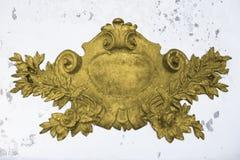 Antique golden emblem Royalty Free Stock Images