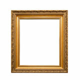 Antique golden frame. Isolated on a white background Royalty Free Stock Photography