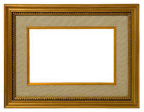Antique golden frame. Royalty Free Stock Photography