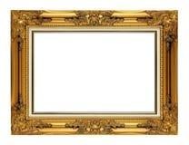 Antique golden frame. Old vintage antique golden frame Royalty Free Stock Image
